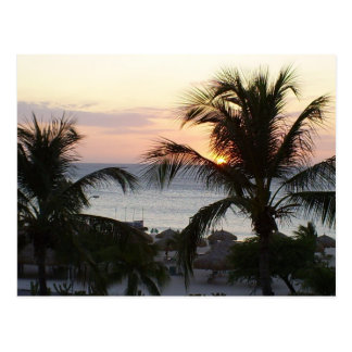 Eagle Beach Aruba Sunset Postcard
