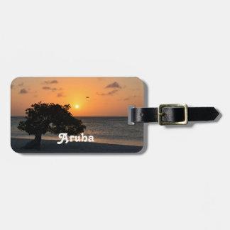 Eagle Beach Sunset Luggage Tag