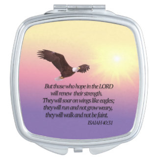 Eagle Bible Verse Compact Mirror