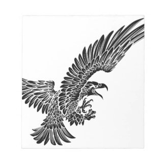 Eagle Bird Swooping Notepad