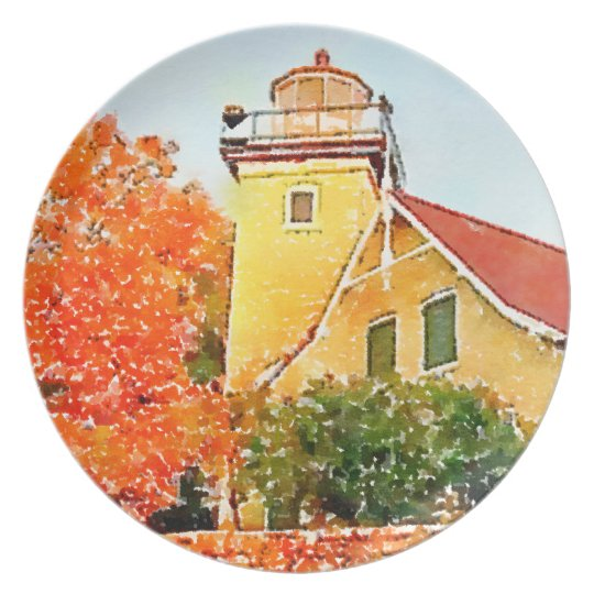 Eagle Bluff Lighthouse Door County Plate