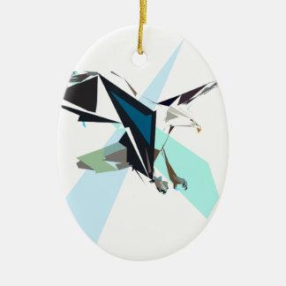 eagle ceramic oval ornament