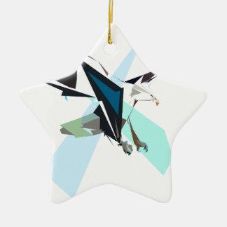 eagle ceramic star ornament