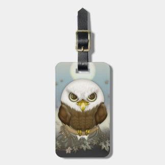 Eagle chauve mignon étiquette à bagages