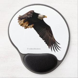 Eagle chauve prend au ciel tapis de souris avec gel