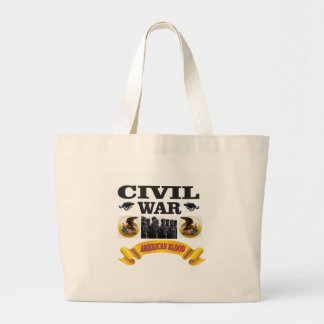eagle civil war art large tote bag