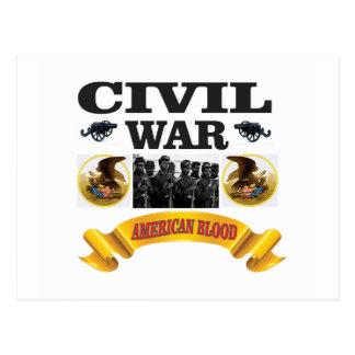 eagle civil war art postcard
