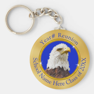 Eagle Class Reunion Gifts with YOUR TEXT or LOGO Keychain
