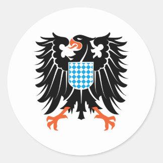 Eagle coat of arms Bavaria Eagle crest Bavaria Classic Round Sticker