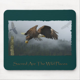 EAGLE, CROW, TOTEM POLE & MISTY FOREST Gifts Mouse Pad
