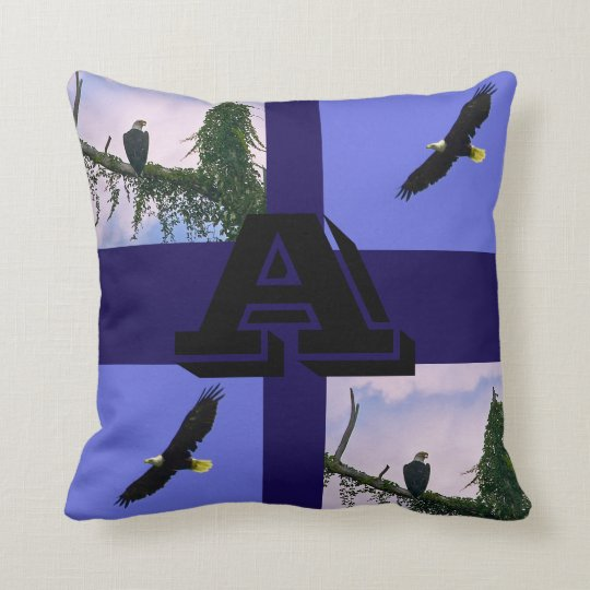 Eagle custom throw pillow