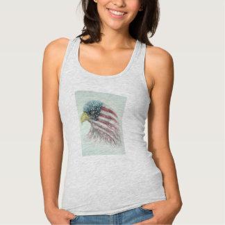 eagle,eagle with american flag,bald eagle bald tank top