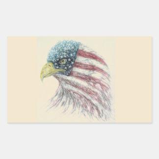 eagle,eagle with american flag sticker