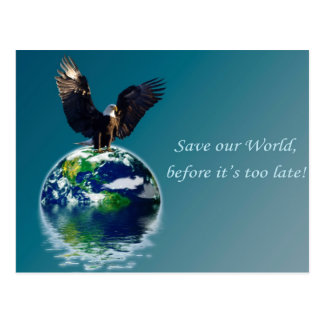 Eagle Earth Day Series Postcard