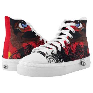 Eagle face lace shoes