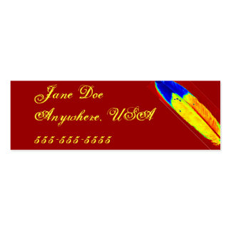 Eagle Feather Pack Of Skinny Business Cards