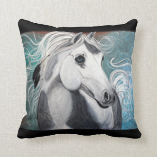 Eagle Feathers / War Pony / Horse American MoJo Pi Throw Pillow