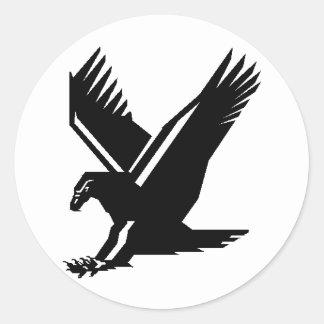 eagle flight classic round sticker