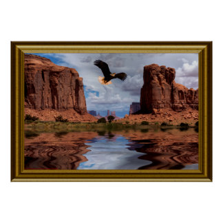 Eagle flight-Monument Valley-II-Frame Poster