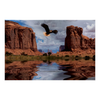 Eagle flight-Monument Valley-II Poster