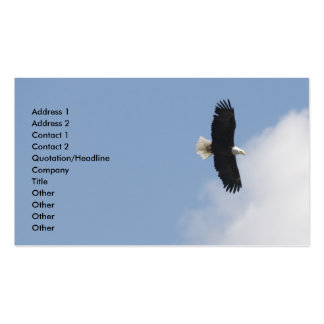 Eagle Flight Over Yellowstone Business Card