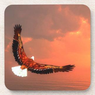 Eagle flying - 3D render Drink Coaster
