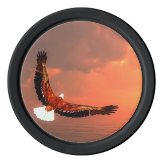 Eagle flying - 3D render Poker Chips