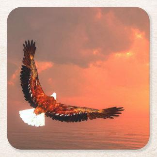 Eagle flying - 3D render Square Paper Coaster