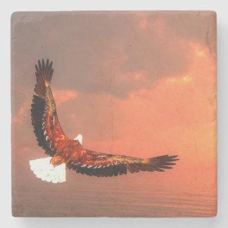 Eagle flying - 3D render Stone Beverage Coaster