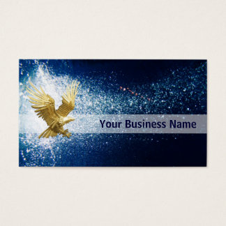 Eagle Flying at night business card