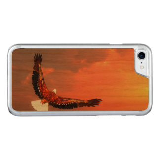Eagle flying to the sun - 3D render Carved iPhone 8/7 Case