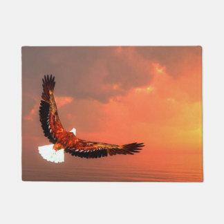 Eagle flying to the sun - 3D render Doormat