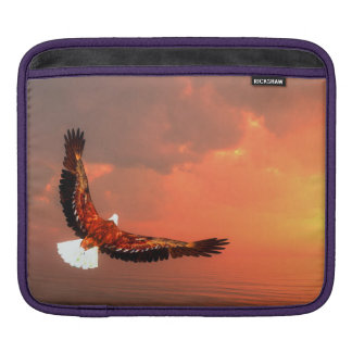 Eagle flying to the sun - 3D render iPad Sleeve