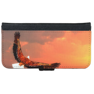 Eagle flying to the sun - 3D render iPhone 6 Wallet Case