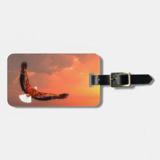 Eagle flying to the sun - 3D render Luggage Tag