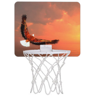 Eagle flying to the sun - 3D render Mini Basketball Hoop