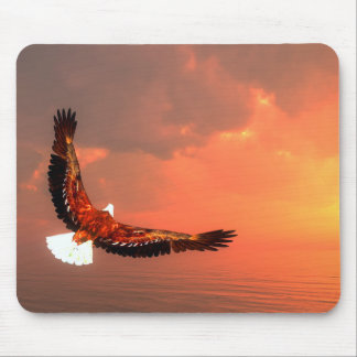Eagle flying to the sun - 3D render Mouse Pad