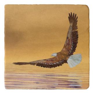 Eagle flying to the sun - 3D render Trivet