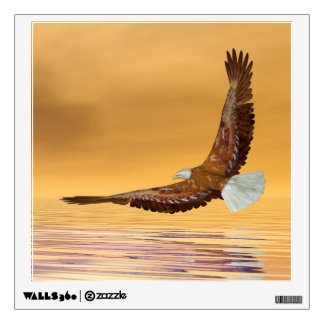 Eagle flying to the sun - 3D render Wall Sticker