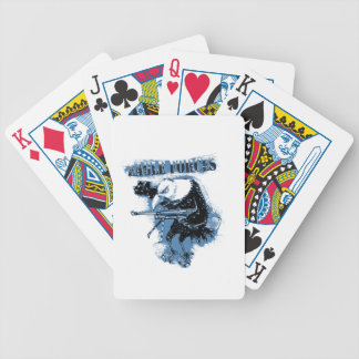 eagle forces blue with text bicycle playing cards