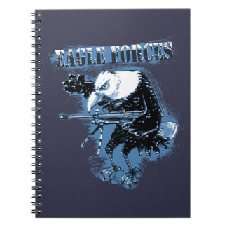 eagle forces blue with text note books