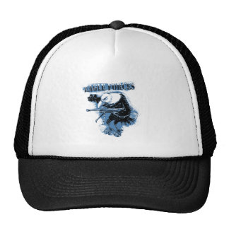 eagle forces blue with text trucker hat