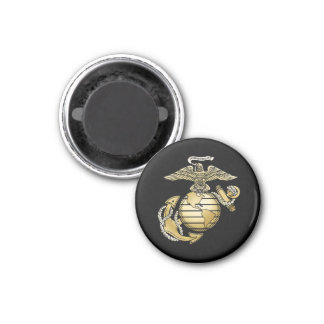 Eagle Globe Anchor 1 Inch Round Magnet