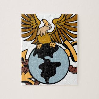 Eagle Globe Anchor Icon Jigsaw Puzzle