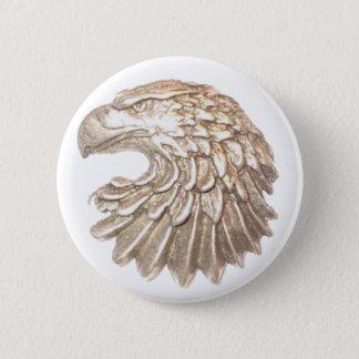 Eagle-Gold-Insignia 2 Inch Round Button