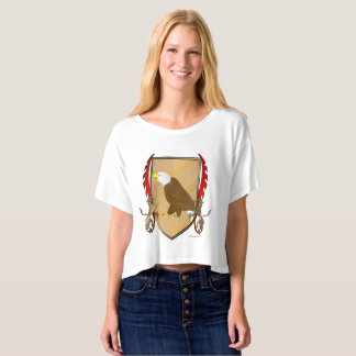 Eagle Griffon Shield Ladies Crop Top
