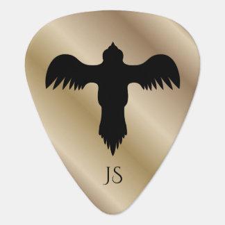 Eagle Hawk Bird Logo Gold Guitar Pick