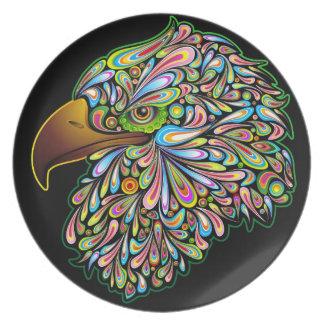 Eagle Hawk Psychedelic Design Plate