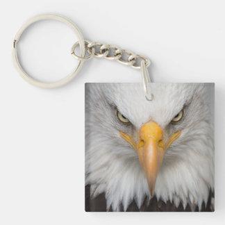 Eagle Head Double-Sided Square Acrylic Keychain