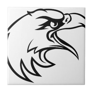 Eagle Head From Side Ceramic Tiles